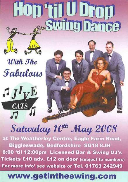 Jive Cats Flyer 10-5-08